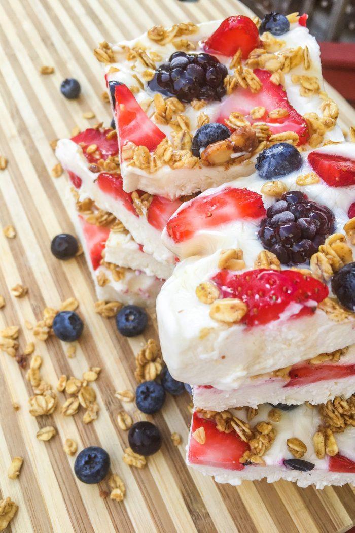 Triple Berry Yogurt Bark