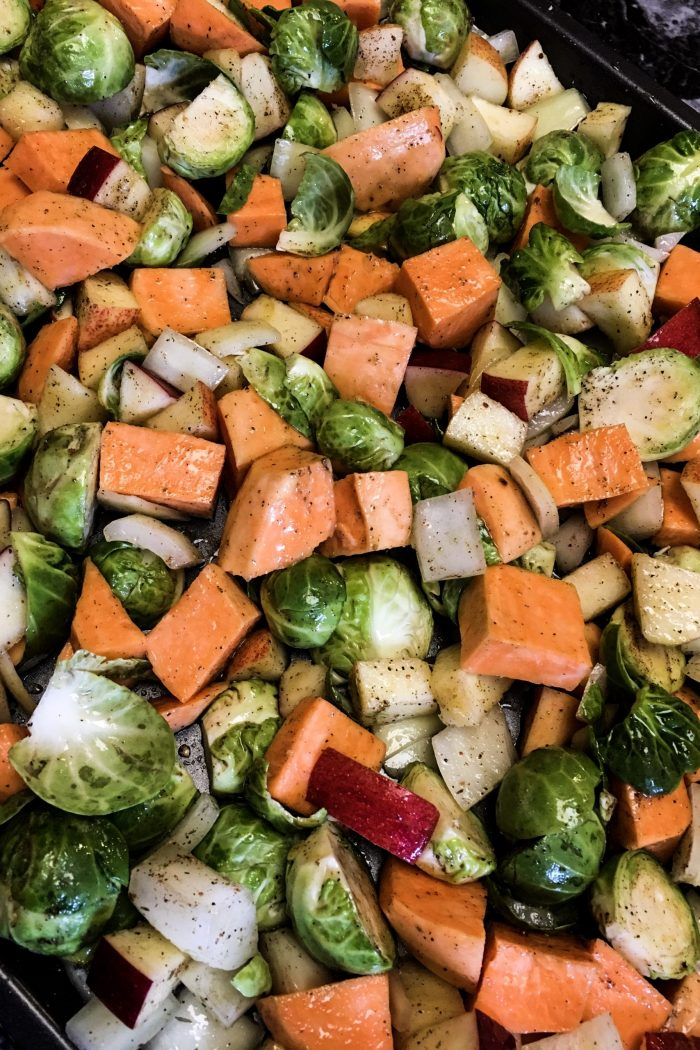 Meal Prep: Brussel Sprouts & Sweet Potatoes