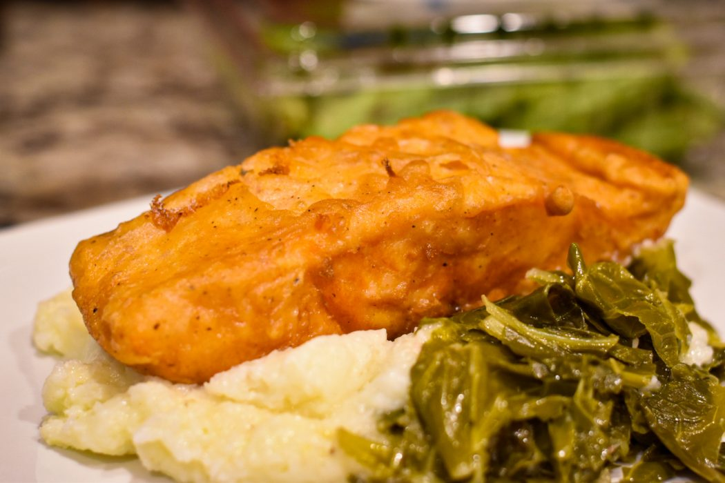 Deep Fried Salmon