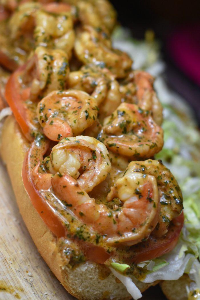 New Orleans Style BBQ Shrimp Po' Boy