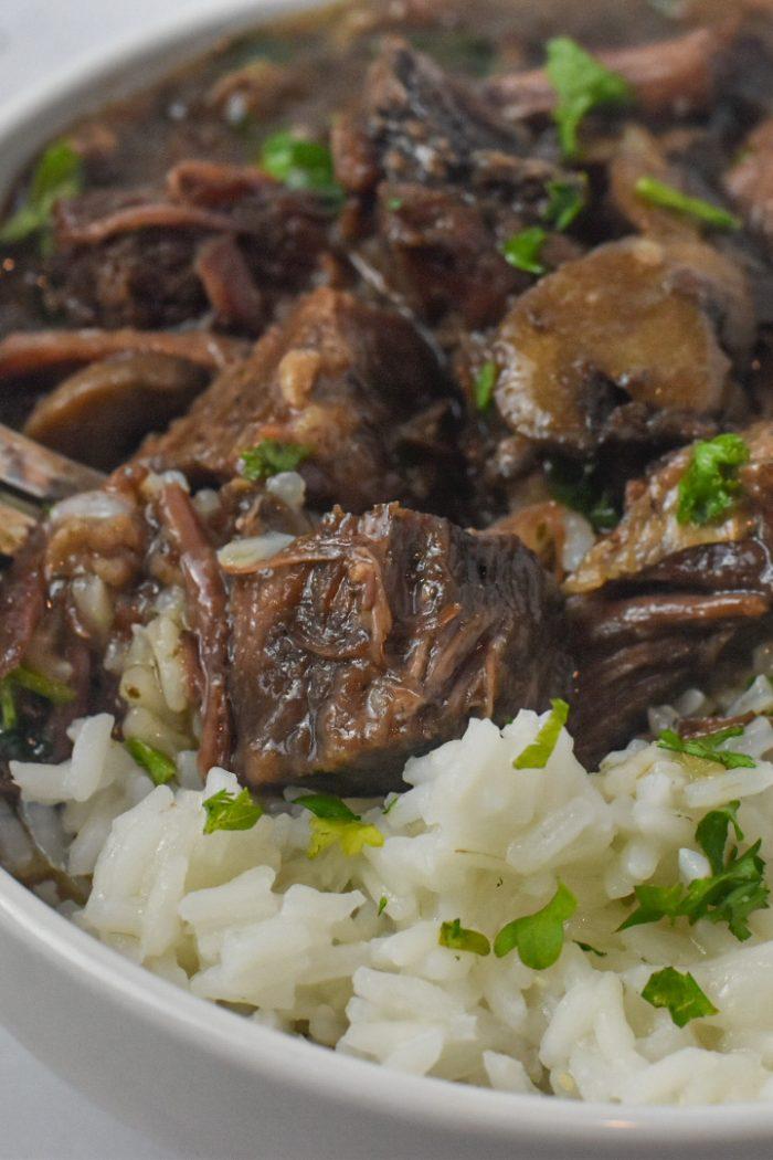 InstaPot Beef Tips & Rice